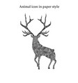 a red deer in paper style vector image vector image
