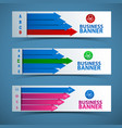 abstract business banners set vector image vector image