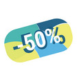 abstract geometric discount button vector image vector image
