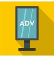 Advertising stand icon flat style vector image vector image