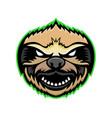 angry sloth mascot vector image
