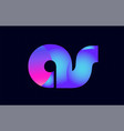 as a s spink blue gradient alphabet letter vector image vector image