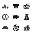 Bank icons set simple style vector image vector image