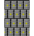 Barrel with biohazard seamless pattern Gray metal vector image
