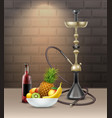 big golden hookah vector image vector image