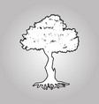 big tree silhouettes vector image vector image
