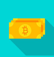 bitcoin banknote flat icon vector image vector image