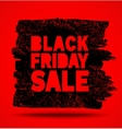 Black Friday Sale hand drawn grunge stain on red vector image vector image