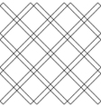 Black white diagonal check plaid seamless pattern vector image vector image