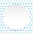 blank circle sheet disc over polkadot pattern