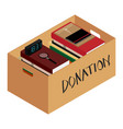 box full of stuff donation concept vector image vector image