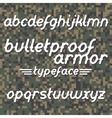 Bulletproof armor typeface vector image