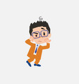 businessman with glasses something sick and dizzy vector image vector image