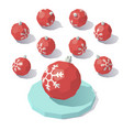 christmas toy red ball vector image vector image