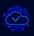 cloud data storage or computing technology vector image vector image