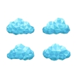 cloud geometrical style vector image