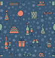 colorful vintage party icons seamless texture vector image