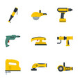 construction tool icon set flat style vector image vector image