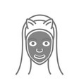 cosmetic mask for face skin care icon vector image