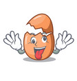 crazy broken egg isolated on the mascot vector image vector image