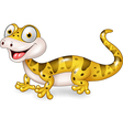 Cute lizard posing isolated on white background vector image vector image