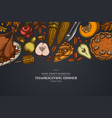 design on dark background with pumpkin fork vector image