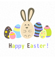 Easter colorful white card template vector image vector image