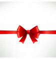 elegant red ribbon and bow vector image vector image