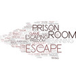 escaping word cloud concept vector image