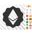 ethereum badge seal icon with bonus vector image vector image