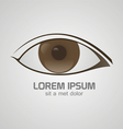 Eye brown logo vector image vector image