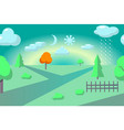 flat countryside landscape abstract vector image