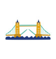 Flat tower bridge of united kingdom icon vector image