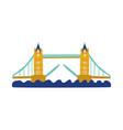 flat tower bridge united kingdom icon vector image vector image