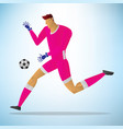 football goalkeeper player vector image vector image