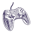 Gamepad drawing vector image vector image