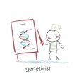geneticist tells a presentation about the genes vector image vector image