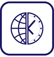 globe and clock icon vector image