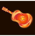 Guitar bright vector image