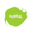herbal eco fresh vegan green design template vector image vector image