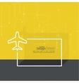Icon plane vector image vector image