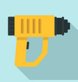 impact drill icon flat style vector image