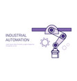 industrial automation assembly line conveyor vector image vector image