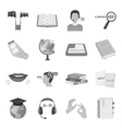 Interpreter and translator set icons in monochrome vector image vector image