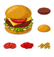 isolated object of burger and sandwich logo vector image