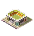 isometric soccer arena vector image vector image