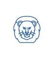 lion head line icon concept lion vector image