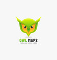 logo owl maps gradient colorful style vector image vector image