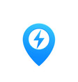 map pointer pin icon with electricity symbol vector image vector image
