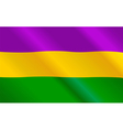 Mardi Gras flag vector image vector image